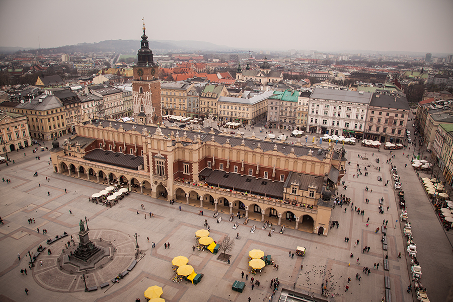 Krakow´s Rynek Glowny is the largest medieval market square in Europe. Photo: John Einar Sandvand