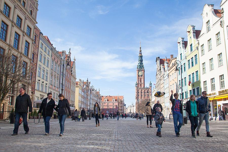 Mesteparten av gamlebyen i Gdansk ble bombet under krigen - men er gjenoppbygget i opprinnelig stil. Foto: John Einar Sandvand