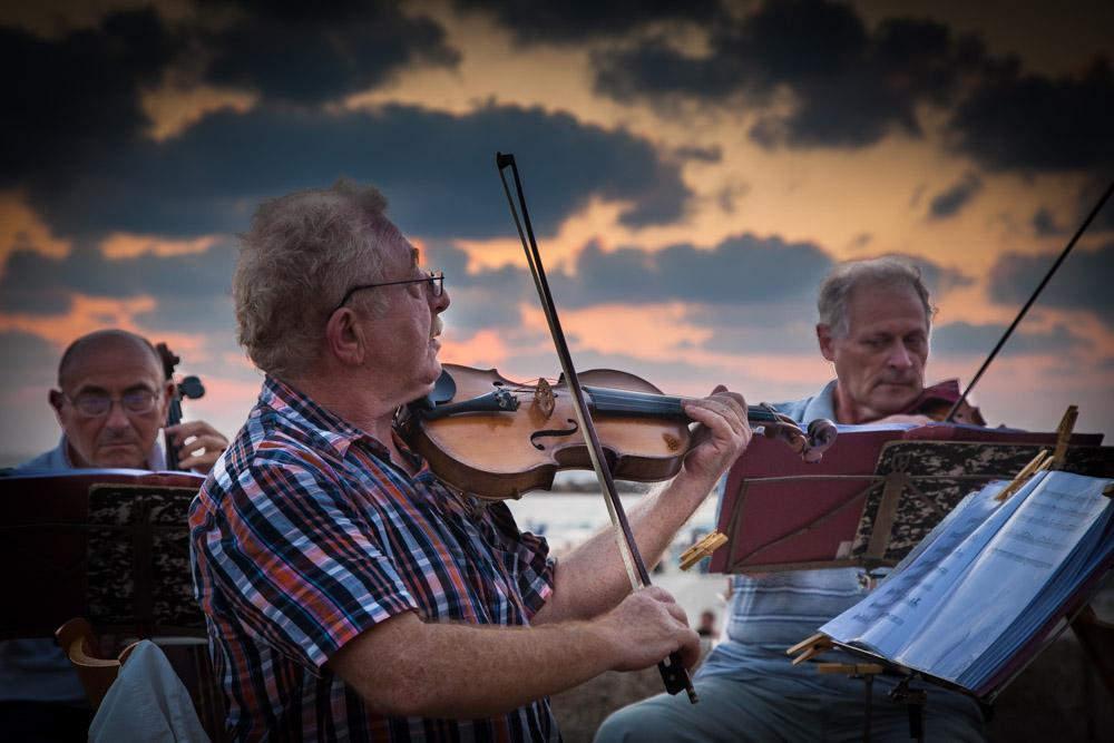 Street musicians in Tel Aviv. Photo: John Einar Sandvand
