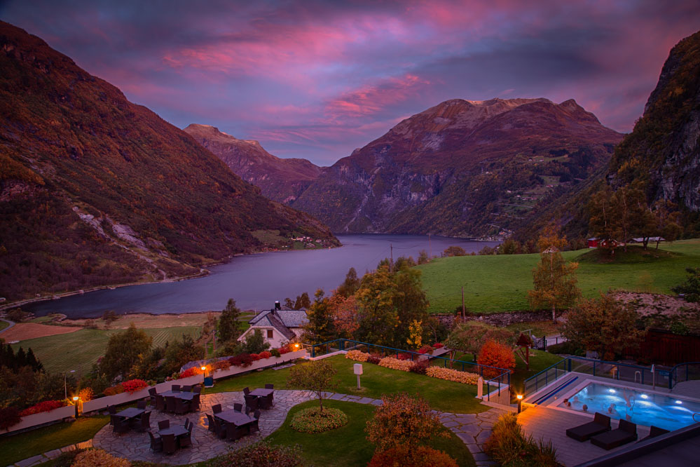 Good morning from Geiranger. Photo: John Einar Sandvand