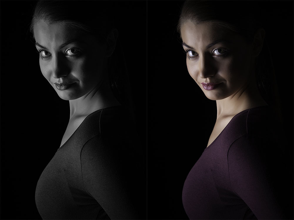Katarzyna Biadun. Choice between color or B/W is not always easy in studio photography. Photo: John Einar Sandvand