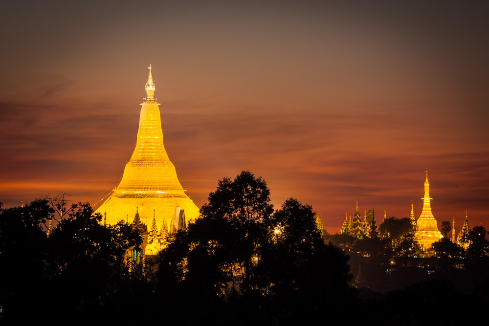 Shwedagon pagoda - as seen from Kandawgyi Lake. Photo: John Einar Sandvand