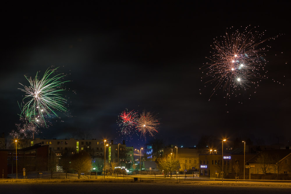 New Year Eve in Ås, Norway. Photo: John Einar Sandvand