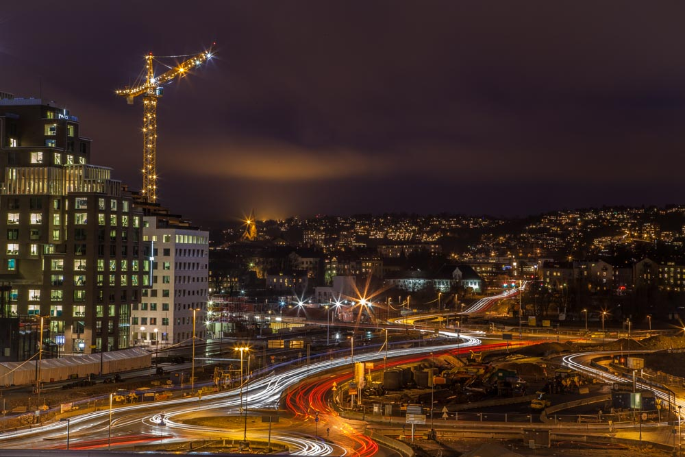 City under construction. Taken from the rooftop of Oslo opera house. Photo: John Einar Sandvand