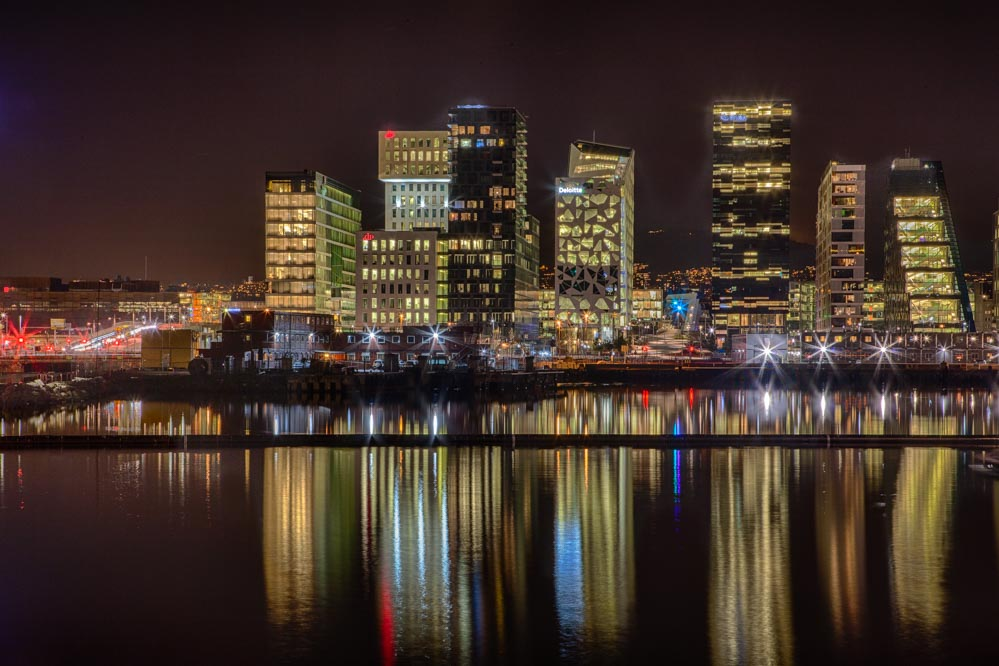 Oslo barcodes. Oslo skyline.  Photo: John Einar Sandvand