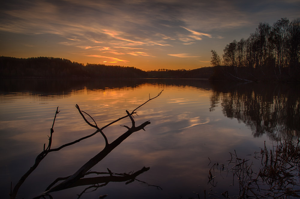Sunset at the Årungen lake. Photo: John Einar Sandvand